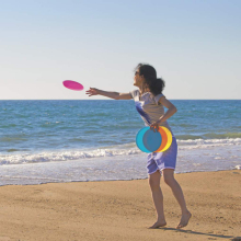 Random color selling Silica gel outdoor beach Frisbee Training Soft Flying Disk Water Sports