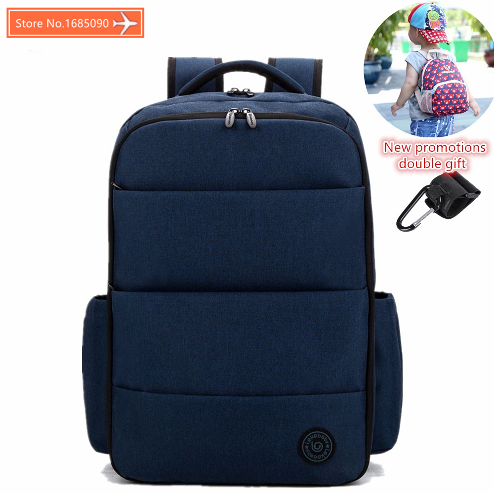 LEKEBABY Fashion Mummy Maternity Nappy Bag Brand Large Capacity Baby Bag Travel Backpack Desinger Nursing Bag for Baby Care<br>