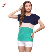 Buy 2018 New women's Shirt Fashion Plus Size Women Clothing Summer Ladies's Blouses Casual O-Neck Chiffon Blouse Short Sleeve Tops for $3.57 in AliExpress store