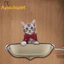 APAULAPET New Suck Cat Hammock Bed Mount Window Pod Cat Shape Warm Bed For Pet Cat Rest Soft House With Mat For Cat(China)