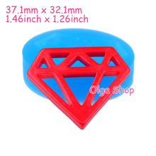 PYL539 37.1mm Diamond Silicone Mold - Jewel Mold Handmade DIY, Fondant, Sugarcraft, Dollhouse, Candy Making, Resin Clay Molds