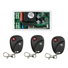 AC 220V 1 CH RF Wireless Remote Control Switch 1 receiver+3 transmitter  Simple connection  home appliances/lamp