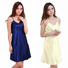 Fashion Sexy Lingerie Bathrobe Women Underwear Sleeping Wear Women Nightshirts Satin Chemises Comfortable Slip Sleepwear Hot(China)