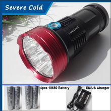 Severe Cold 20000 Lumens Flashlight King LED Flashlight 10 x CREE XM-L T6 LED Hunting Camping  Flash light Torch Lamp Torch