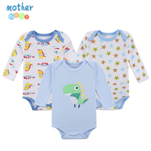 Mother Nest 3 Pieces/lot 2017 New Fashion Kids Boys Clothes Cartoon Rompers Boy Girl's Wear Baby Romper Baby Clothing