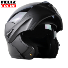 Safe Flip Up Super valuable Motorcycle Helmet With double lens Inner Sun Visor Multi size and color Transparent/Black lens A2347