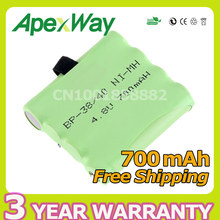 NI-MH Bateria Battery For Uniden BP-38 BP-40 BT-1013 BT-537 For MOTOROLA TLKR T4 T5 T6 T7 T8 Series Model 4.8v 700mAh