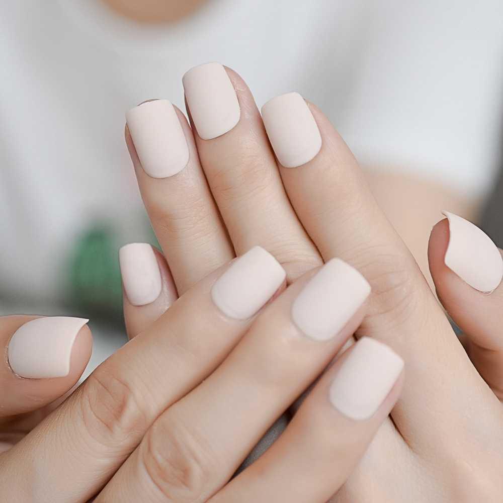 Detail Feedback Questions about 24pcs Pure Color Short Matte Nails ...