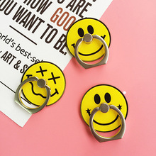 Cute Cartoon Finger Ring Holder Universal Simple Smile Mobile Phone 3D Metal Stander Finger Grip for iPhone Samsung HTC Xiaomi