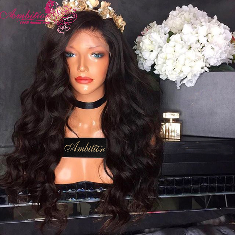 Top Quaality Full Brazilian Lace Front Wig Human Hair Wavy 180% Density Human Hair Full Lace Wigs 8-30 Inches Human Hair Wigs<br><br>Aliexpress