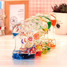 Dolphin Style Liquid Oil Hourglass Timber Creative Small Gift Fashion Home Decoration E2shopping(China)