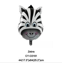 44*64cm 20pcs/lot Cute Zebra Head Foil Air Balloons Birthday Party Decoration Supplies Kids Toys Christmas Gifts(China)