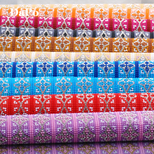 24x40cm Colorful Pattern Crystal Rhinestones Trim Chain Bridal Applique Resin Strass Mesh Beads Banding Wedding Dress Crafts TT5