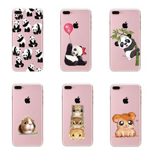 For iPhone 6 7 Case Cute Panda Hamster Animals Case For iphone 6S 5 5s SE Silicone Butterfly Love Hearts Pattern Back Cover