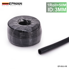 AUTOFAB - Epman 50M ID:3mm High Performance Silicone Vacuum Hose Black For Honda Accord 92-93 (Fits: Honda) AF-VS-3-1R