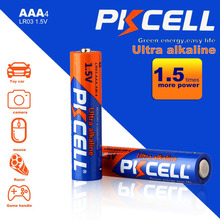 PKCELL 1.5V Battery AAA Alkaline Zinc-manganese Dioxide Dry Cell Batteries for Toys Remote Control Mouse More Long Lasting
