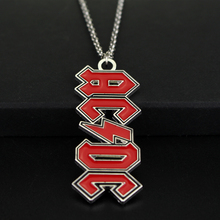 Hot Items New Style 2 Colour Rock Music Band ACDC Logo Necklace Pendant Fans Love Fashion Jewelry For Men Women Gift