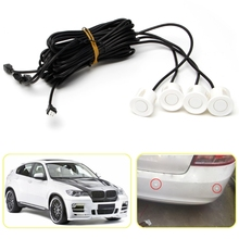 Universal 4 Pcs Assistance Reversing Radar Probe Parking Sensor Backup Buzzer safe reversing Back-up Help(China)