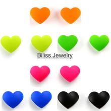 Biliss 2017 New Arrivals Love Heart Shape Magnetic Earrings Fake Lip Ring Ear Studs For Women No Piercing Colors Selectable