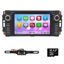 Hizpo Car Stereo GPS DVD Player for Dodge Ram Challenger Jeep Wrangler JK Head Unit Single Din 6.2 Touch Screen Indash Radio DAB