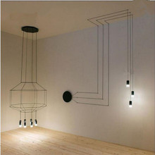 Fashion lamp pendant lights base on the wall  iron lamp holder 4 meters wires The restaurant lighting