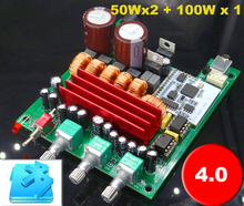 TPA3116 2.1 200w Bluetooth 4.0 stereo digital audio power amplifier board bass 100w Left and right channels 50w*2(China)