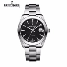 Reef Tiger Dress Mens Watches Automatic 316L Solid Stainless Steel Watch with Big Date RGA835(China)
