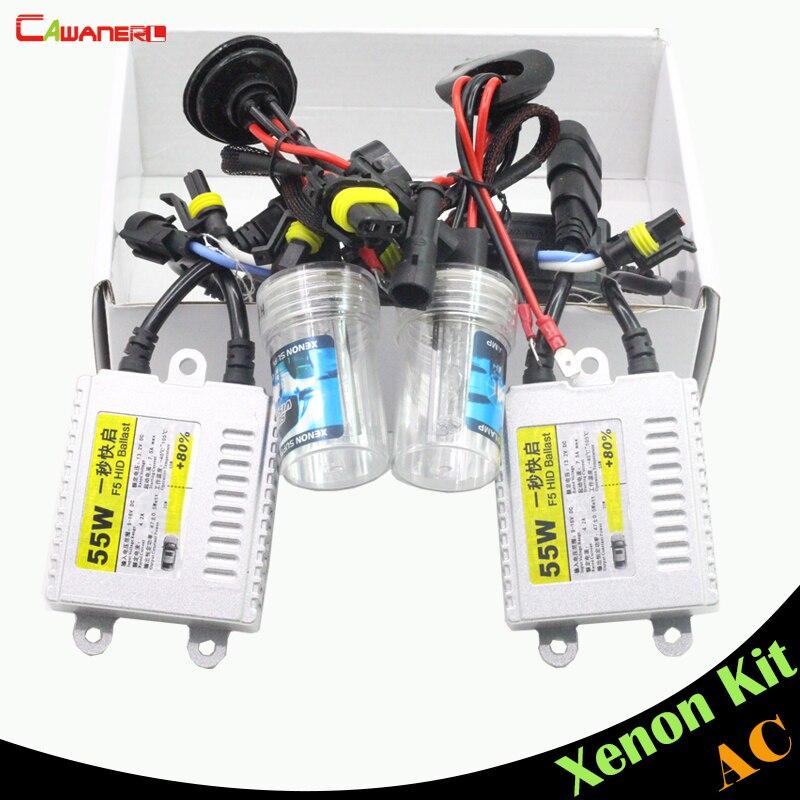 Cawanerl 9006 HB4 55W Ballast Bulb HID Xenon Kit AC 3000K-15000K Car Headlight DRL Fog Lamp<br>