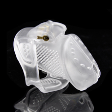 Buy Male Perforated design penis ring Adult sex toys Small / Standard Cage Chastity Device 2 lcoks