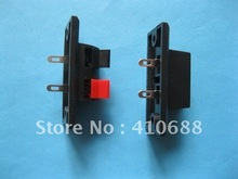 10 Pcs 44.8mmx21mm 2pin Red and Black Push Type Speaker Terminal Board Connector(China)