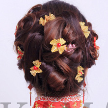 Wedding Bridal Sticks Hairpins With Flower Hair Bridesmaid Beaded U Hair Pin Clip For Women Accessories HMY-009