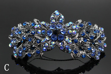 1pc Fashion Flower  Hairpin Crystal  Dainty Elegant  Barrette  Wedding Brides Hair Jewelry Bridal Rhinestone Accessories 235-1