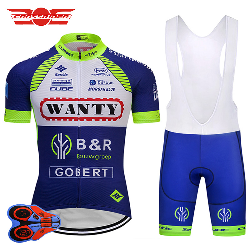 Crossrider 2018 Pro Team WANTY Cycling Jersey Set MTB Bicycle clothing Men Short Ropa Ciclismo Bike Wear Clothes Maillot Culotte<br>