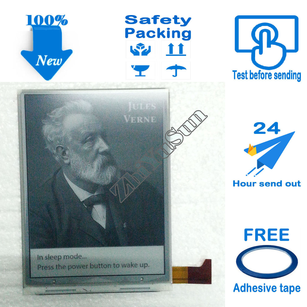 Free Adhesive Tape,ED060XC5 (LF) E-ink screen for Gmini MagicBook R6HD readers, Safety packing,100% New <br>