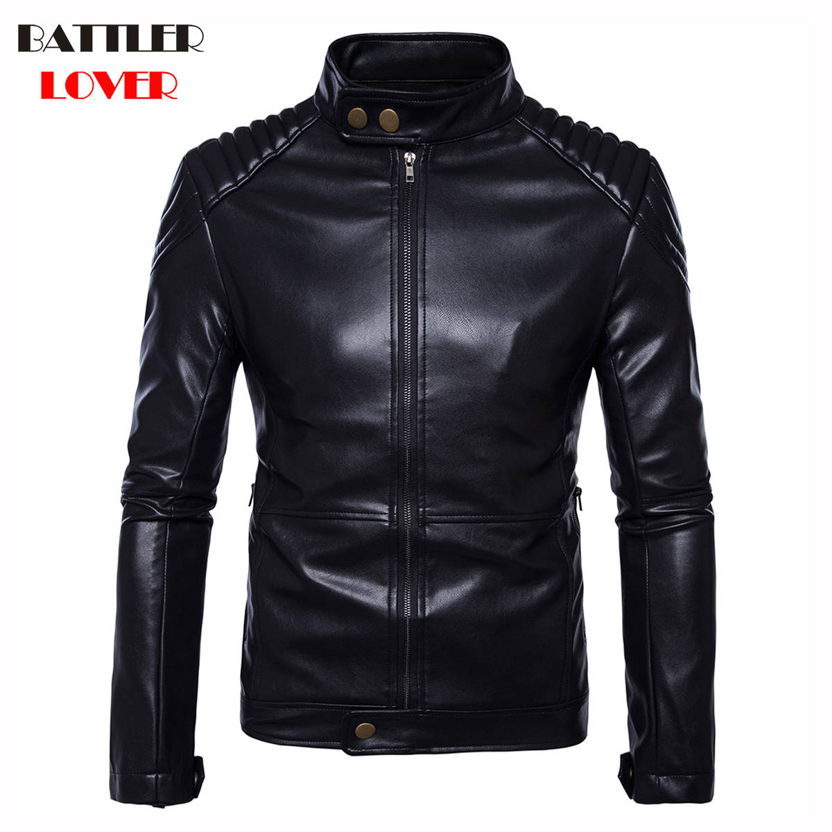 2019 Mens Leather Coat Winter Faux Leather Warm Outwear Coats Men Punk Biker Parka Jackets Hombre Thick Overcoat Brand Clothing
