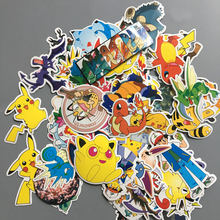 60pcs/ Set Kids Sticker Waterproof Japan Anime Stickers For Laptop Car Trunk Skateboard Guitar Fridge Decal Kids Toy Stickers