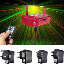 New Trendy Mini Auto/Voice Xmas DJ Disco Party LED Laser Stage Remote Light Lamp Projector