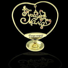 "Creative gifts.swing letters decoration.golden art & crafts.ceremony decor.""dear mother"" souvenirs gift of custom made wholesale"