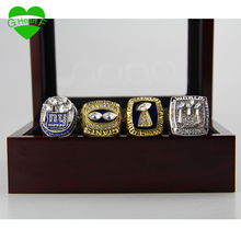 New York Giants sports jewelry Drop shipping 1986/1990/2007/2011 Championship Ring Replica Super Bowl 4 Year Sets(China)