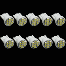 CQD-Light 10PCS white 1206/3020 smd T10 8 smd 8smd 8led led 194 168 192 W5W super bright Auto led car lighting wedge