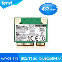 Azurewave AW-CB161N Wireless-AC 802.11ac WiFi Bluetooth 4.0 Aaapter Realtek RTL8821AE 433Mbps Mini PCie Wifi Express wlan card