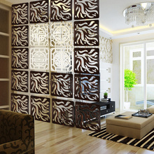Entranceway Hanging Wooden carved Cutout Carving room divider partition wall biombo room Dividers Partitions 29cmx29cm(China)