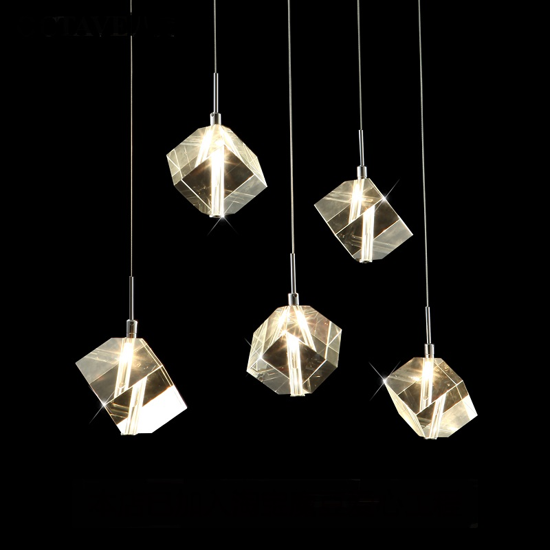 1-8 Heads led Pendant LAMP fashion crystal lamp with dining-room lamp stage lighting glass pendant lights<br>