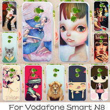 AKABEILA Soft TPU Phone Cover Case For Vodafone Smart N8 VFD610 5.0 inch Covers Painted Cases Back Litter Girls Bags(China)