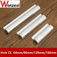 Hole CC 64mm/96mm/128mm/160mm Aluminum alloy handle Cabinet handle Kitchen Furniture handle drawer knobs(China)