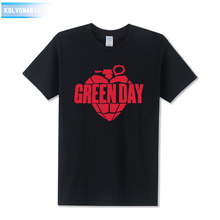 Green Day Printed Men T Shirt Fashion 2017 Summer New Arrival Short Sleeve O Neck Cotton Hip Hop T-Shirt Tops Tee Clothing Set(China)