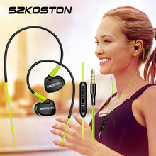 SZKOSTON Profession In-Ear Sport Earphones Running Headphones Stereo Super Clear Headset with MIC for iPhone Mobile Phone MP3