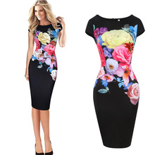 Buy GZDL Summer Chinese Style Short Sleeve Black Printed Floral Elegant Sexy Vintage Slim Party Women Clothing Dress Vestidos CL3528 for $10.27 in AliExpress store
