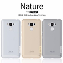 Asus Zenfone 3 Max ZC553KL case NILLKIN Nature clear TPU Transparent soft back cover case for Asus Zenfone 3 Max ZC553KL