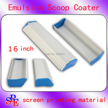 "16"" 41cm Emulsion Scoop Coater Silk Screen Printing Sizing Scrape Coating including shipping cost"